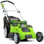 Značilnosti kosilnice Greenworks 25302 Twin Force G-max